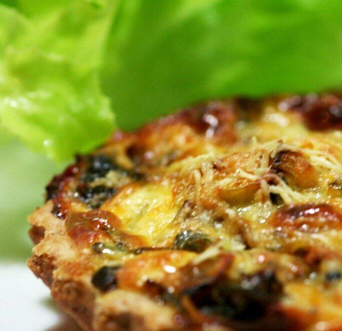 Quiche de alho poró com gorgonzola