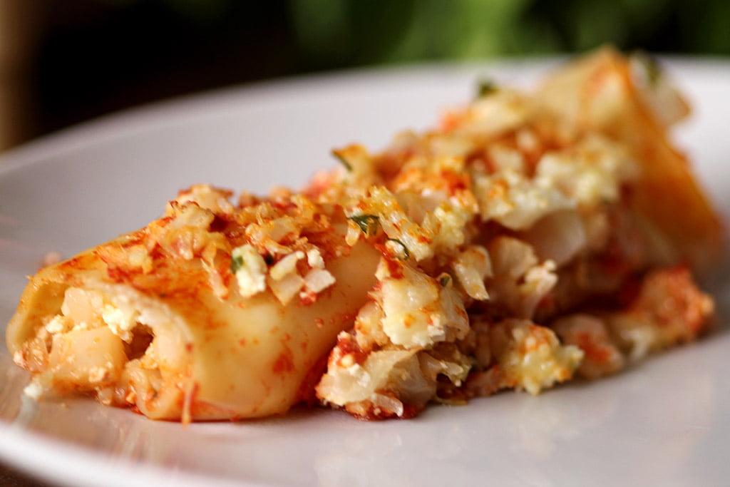 Cannelloni de couve-flor com ricota