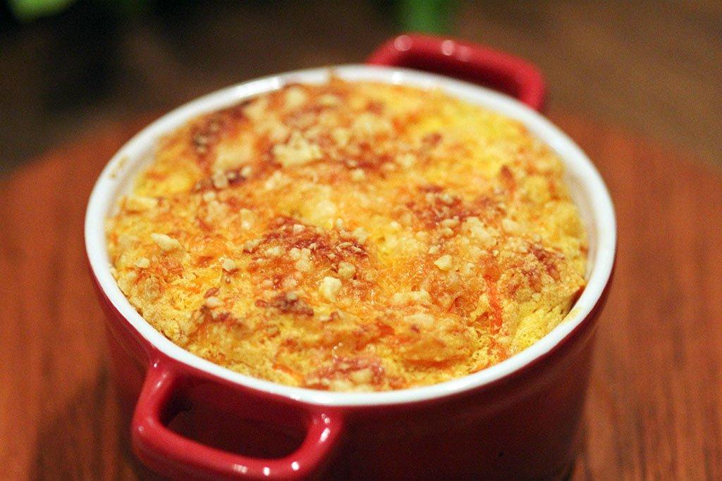 Suflê de cenoura fácil, leve e deliciosa