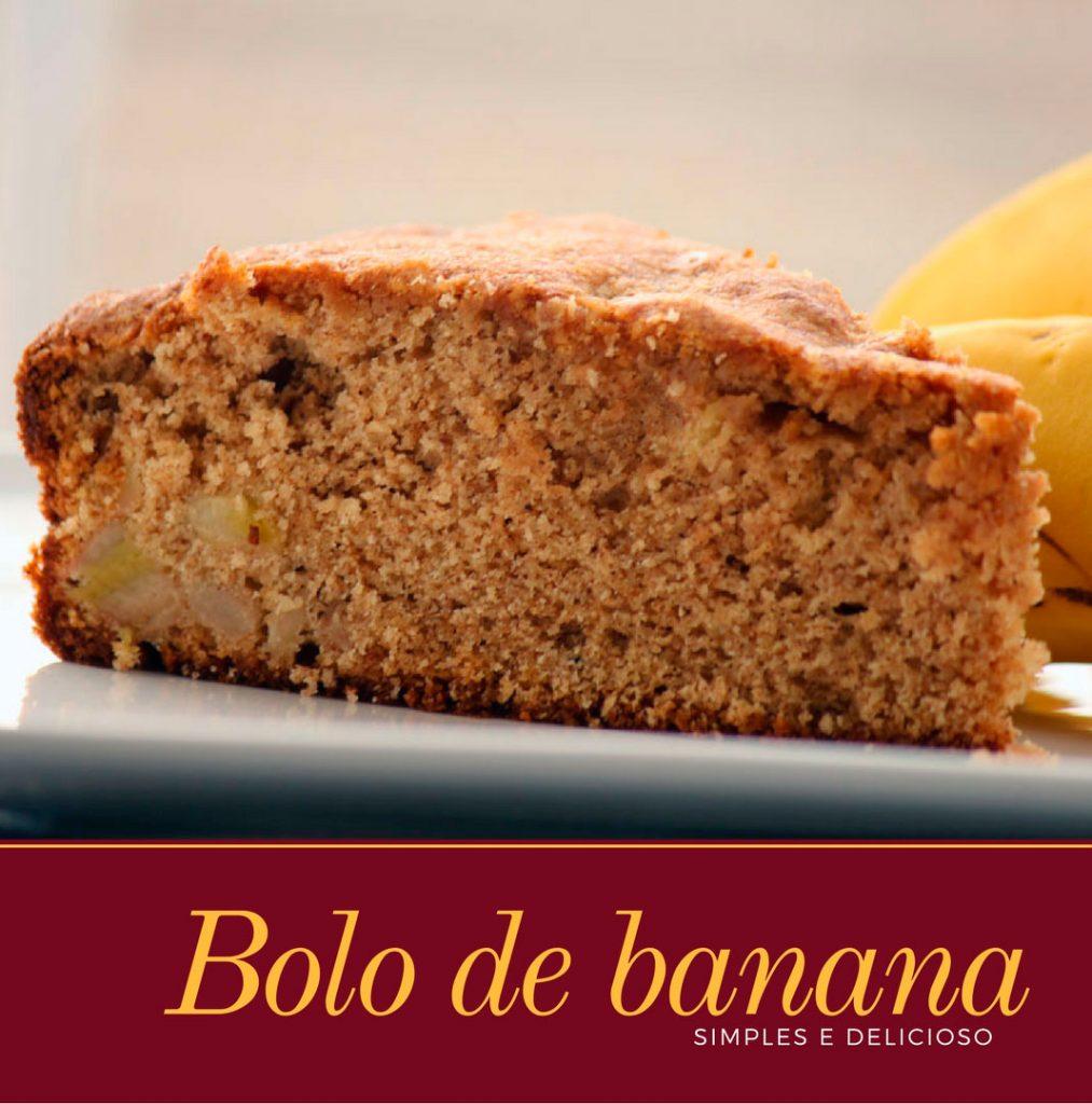 Bolo de banana tradicional - Prepare essa receita simples e deliciosa de bolo de banana com canela que tem aquele jeitinho de bolo de casa de vó.