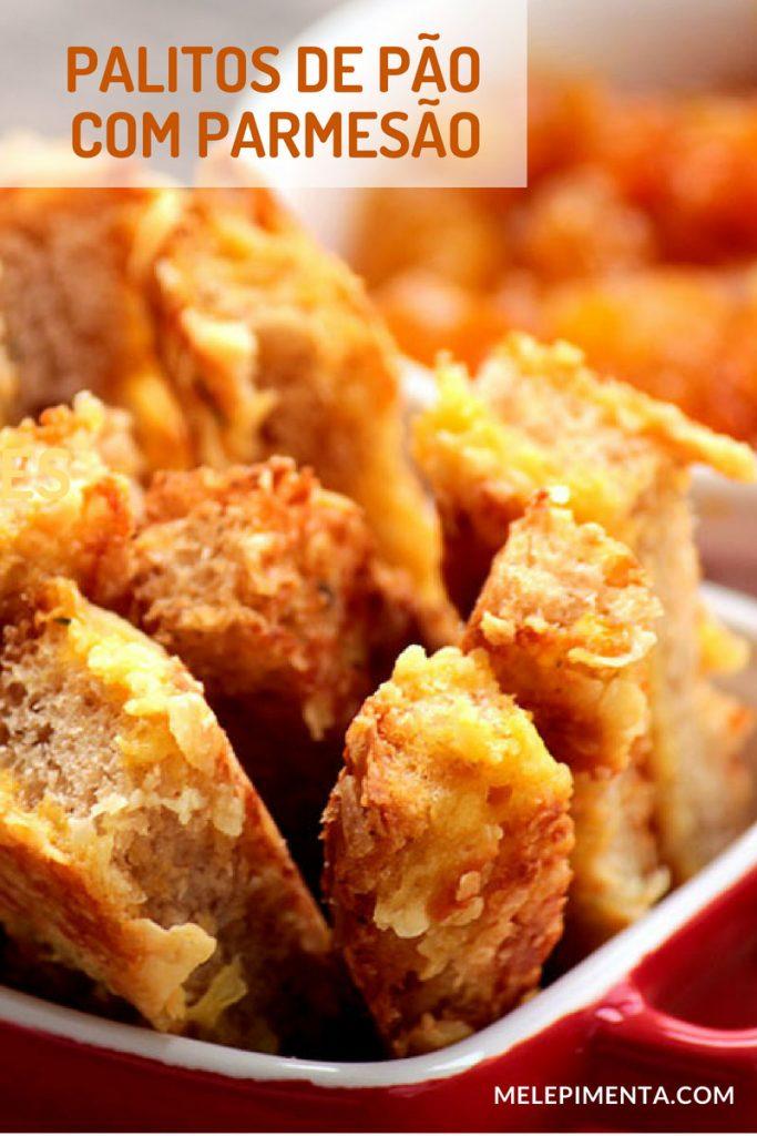 Receita palito de pão com parmesão - uma receita deliciosa feita com pão e parmesão.