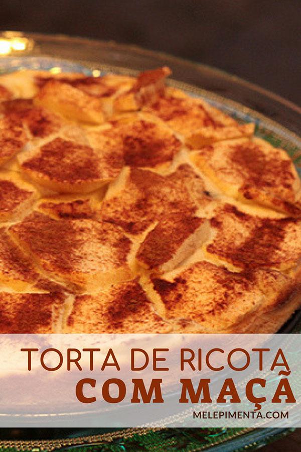 Torta de ricota com maçã e uvas passas, simplesmente deliciosa - Faça essa sobremesa fácil na sua casa. Confira a receita!