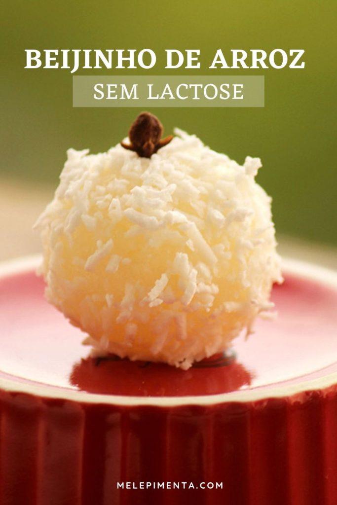 Beijinho de arroz sem lactose
