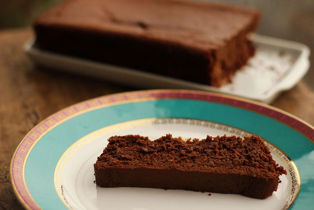 Bolo de chocolate e grão-de-bico | Sem farinha