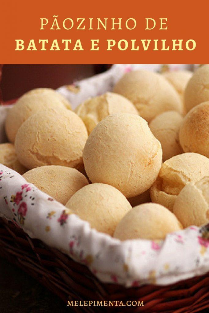 Pãozinho de batata e polvilho - uma receita saudável, fácil de fazer e muito parecida com pão de queijo.
