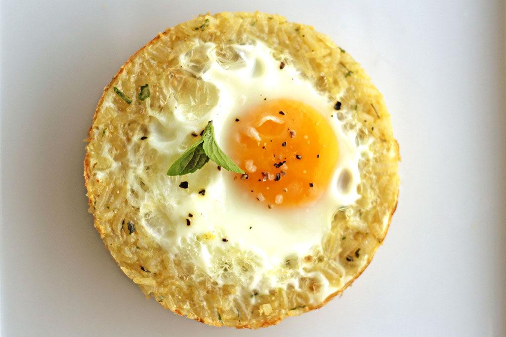 Tarteletes de arroz e ovo - Aproveitamento sobras