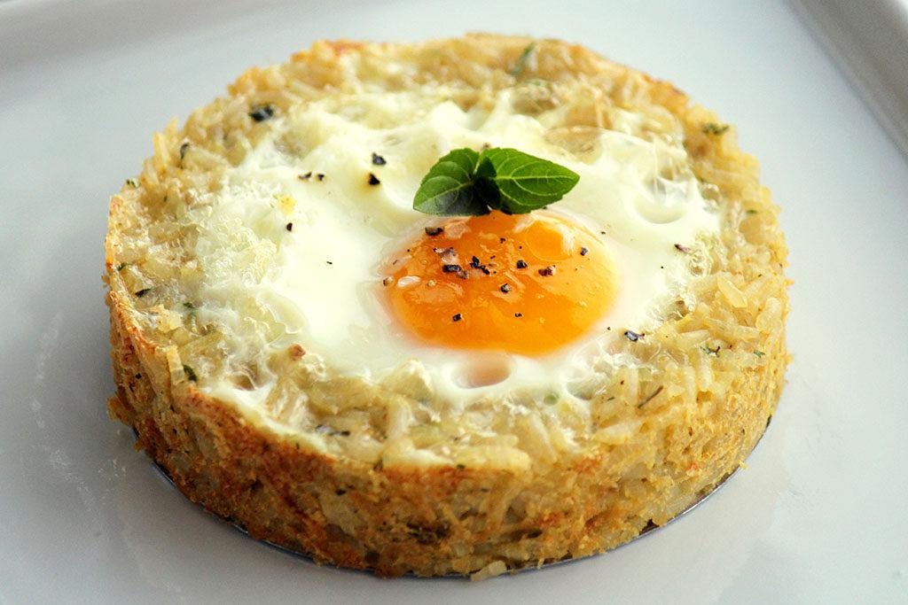 Tarteletes de arroz e ovo