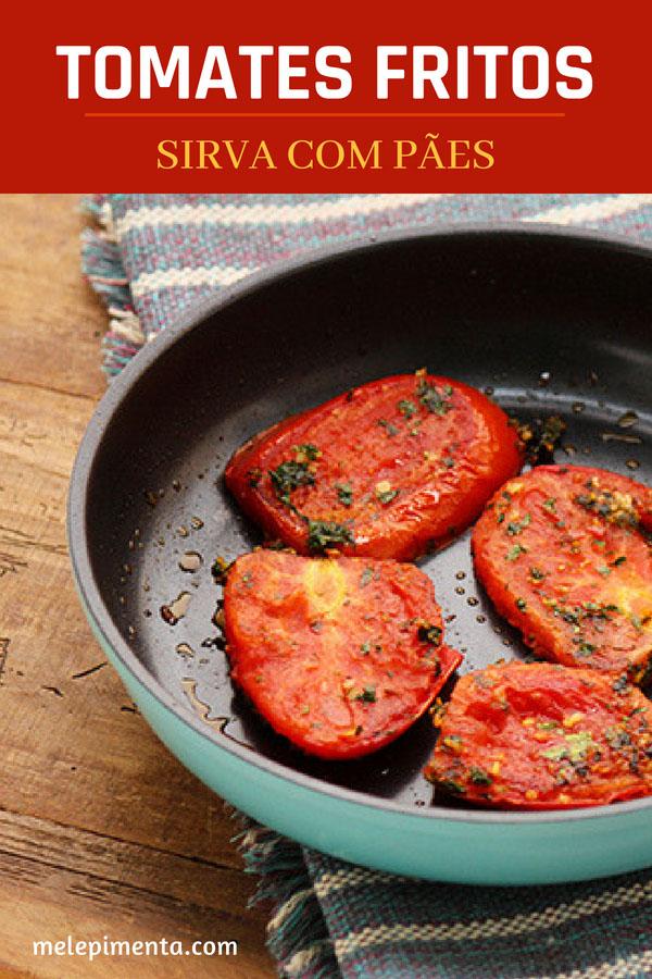 Tomates fritos - Uma receita simplesmente deliciosa para você fazer em casa e servir com pães. Um prato simples, típico de Jerusalém e muito saboroso. Faça essa receita de tomate frito na sua casa.