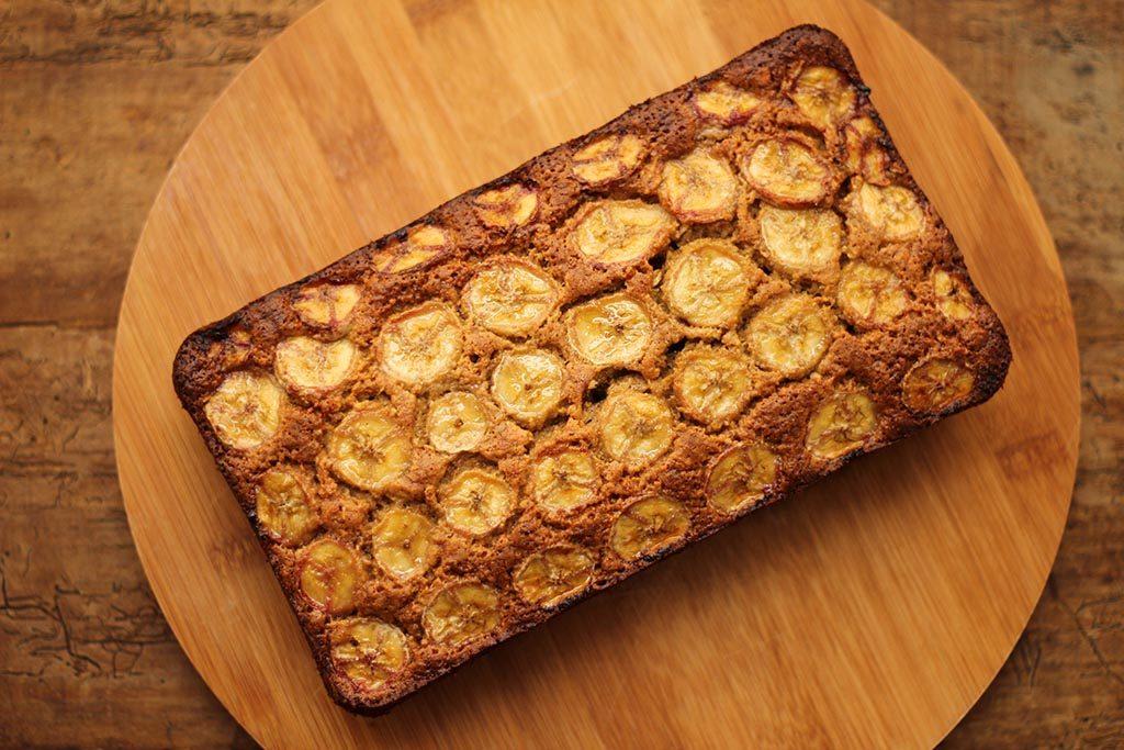 Bolo de banana, aveia e mel - Sem farinha