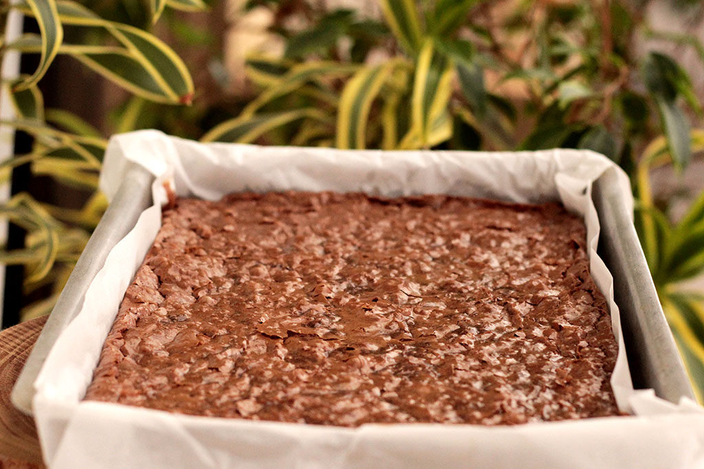 Brownie de chocolate e castanhas