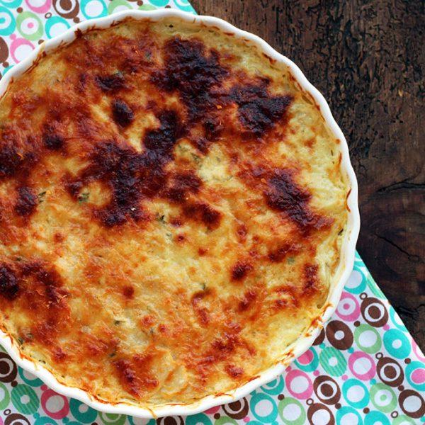 Torta de batata-doce em camadas