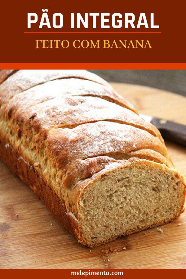 Receita de pão integral de banana - Confira a receita desse delicioso pão caseiro feito com banana, ele é muito saboroso e aromático. Veja a receita e faça um pão caseiro delicioso.