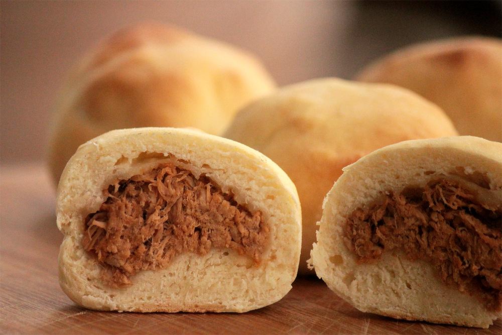 Pãozinho recheado rápido e delicioso - Pão chinês