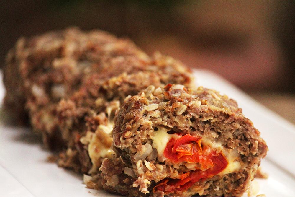 Receita de rocambole de carne saudável