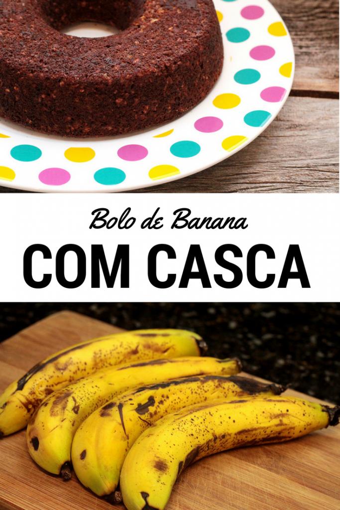 Bolo de banana com casca e aveia – Saudável e delicioso