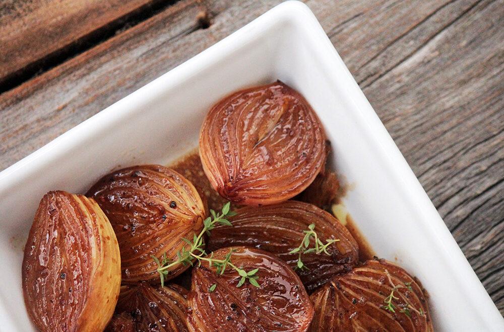 Cebolas assadas e caramelizadas – Fáceis e deliciosas