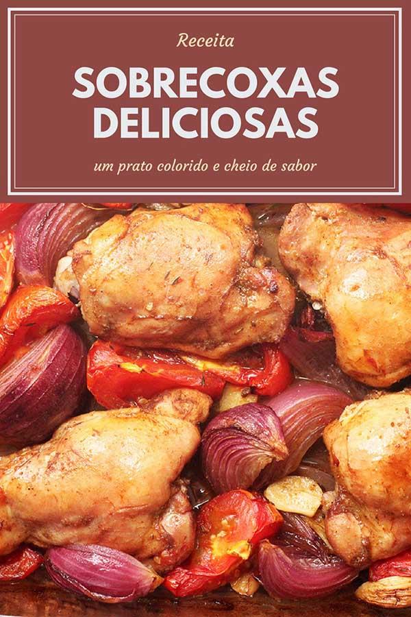 Sobrecoxas de frango assadas - Frango Zás Trás do Jamie Oliver - Faça em casa essas sobrecoxas deliciosas preparadas com cebola, tomates e deliciosos temperos. Uma receita simples e maravilhosa!