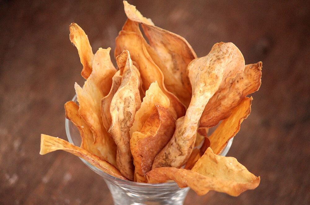 Chips de batata-doce assados – Faça em casa