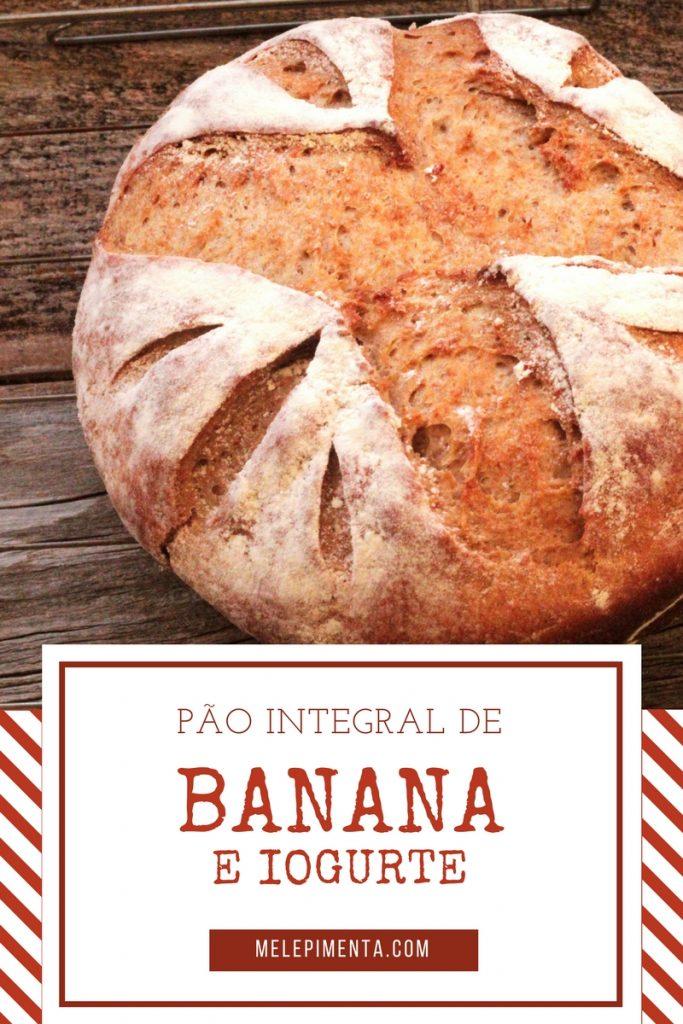 Receita de pão integral de banana com iogurte - Saudável, fácil de fazer e simplesmente delicioso. Confira a receita desse pão rico em fibras e nutrientes.