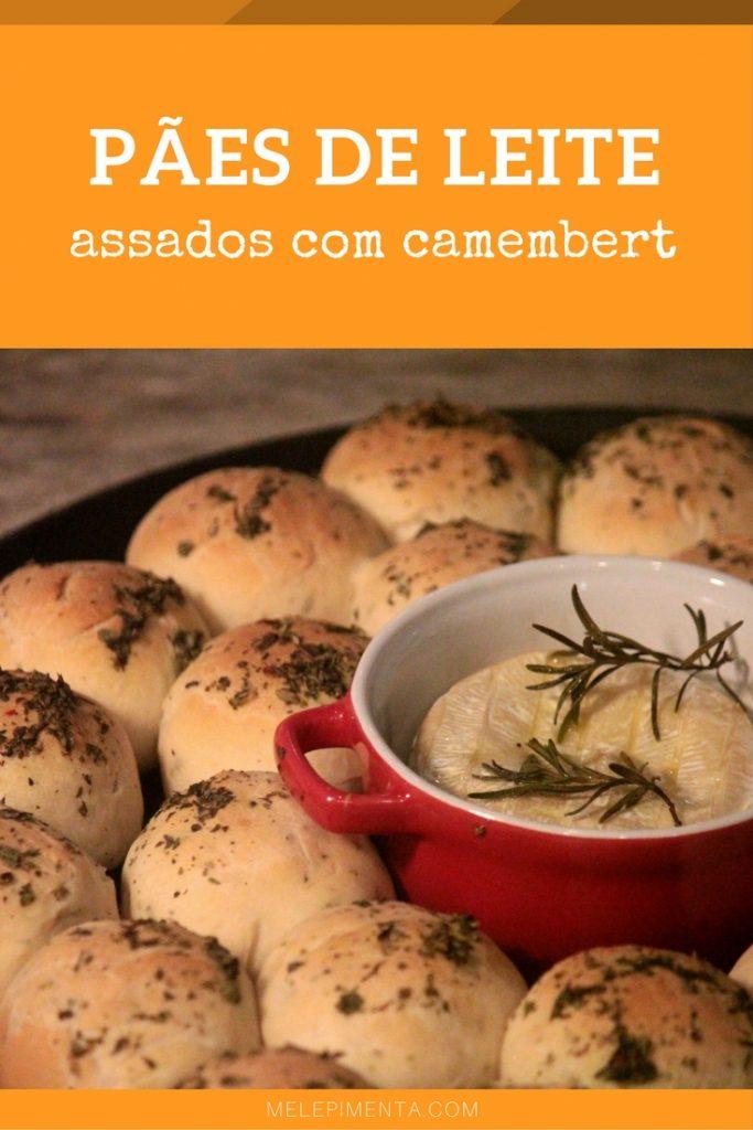 Receita de pães de leite assados com queijo camembert - Prepare em casa esses deliciosos pãezinhos perfeitos para serem mergulhados no fondue de queijo.