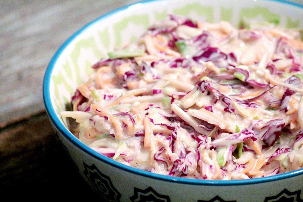 Salada Coleslaw | Repolho, cenoura e maçã verde