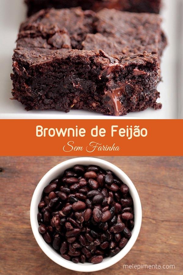 Brownie de feijão e chocolate - Confira essa receita deliciosa de brownie feito com feijão e chocolate. A receita é sem glúten e sem lactose. Um brownie molhadinho, saudável e simplesmente delicioso.