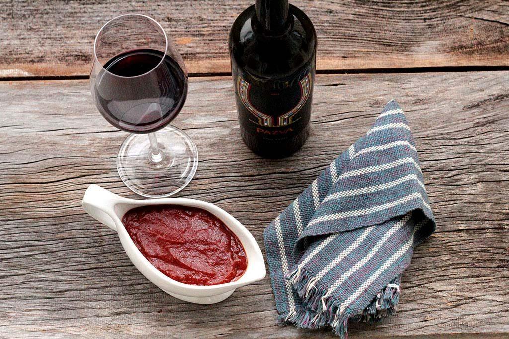 Molho de vinho e maçã para carnes