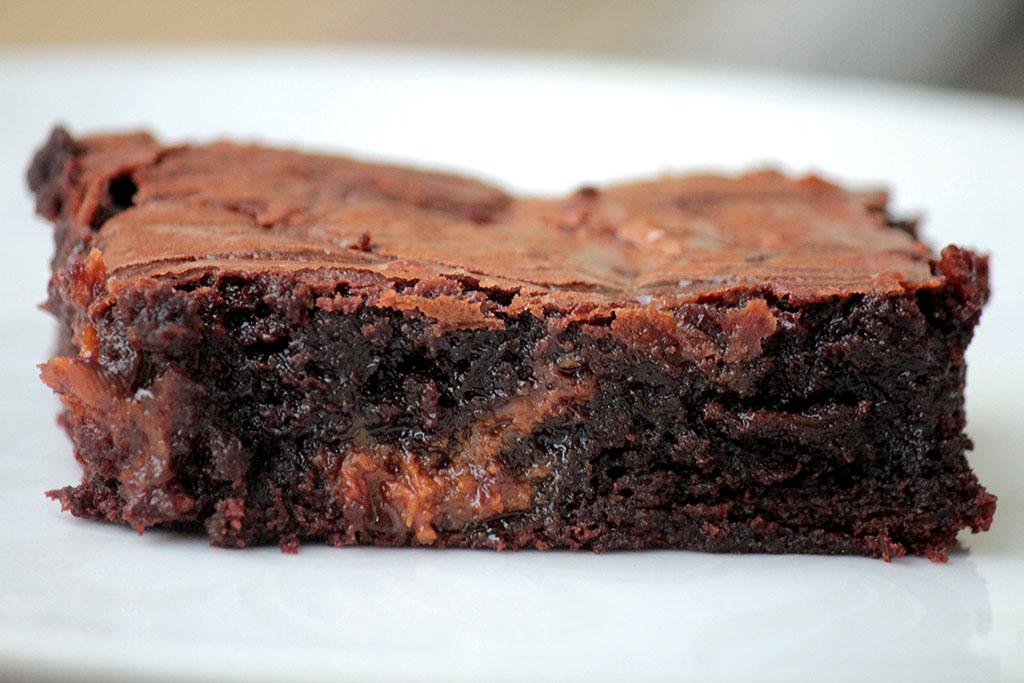 Brownie de chocolate com doce de leite