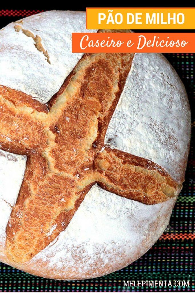 Pão de milho - Uma receita deliciosa e fácil para você preparar na sua casa. O preparo desse pão de milho inicia por uma polenta. Confira a receita completa e faça na sua casa.