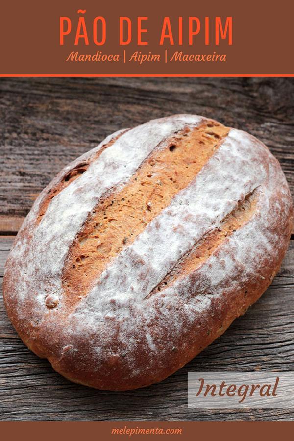 Receita de pão integral de aipim saudável e delicioso. Faça essa receita na sua casa e descubra como fazer pães em casa é viciante. Uma receita saudável, nutritiva e saborosa.