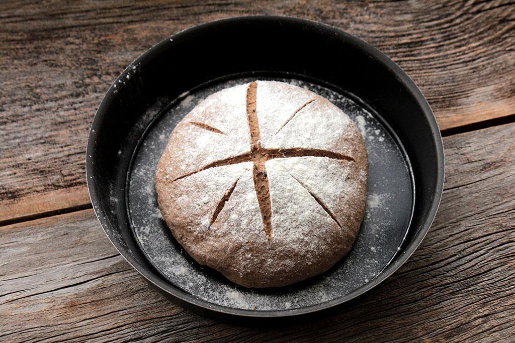 Receita de pão integral de ameixa