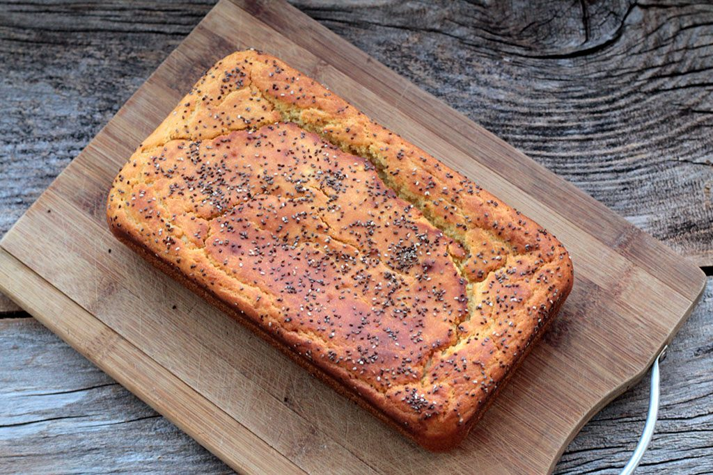 Pão de batata-doce e iogurte - Feito no liquidificador e sem sova
