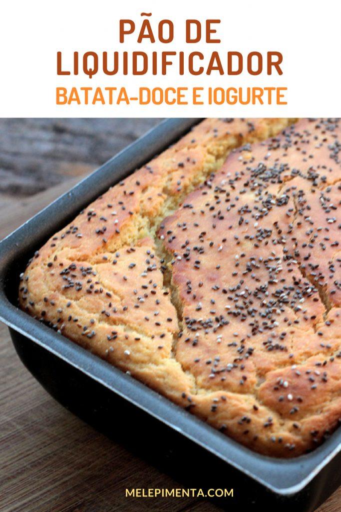 Pão de batata-doce e iogurte - Faça na sua casa a receita desse delicioso pão de liquidificador, ele é feito sem sova e em poucos minutos ele estará pronto para ir ao forno. Faça esse pão saudável de batata-doce e iogurte.