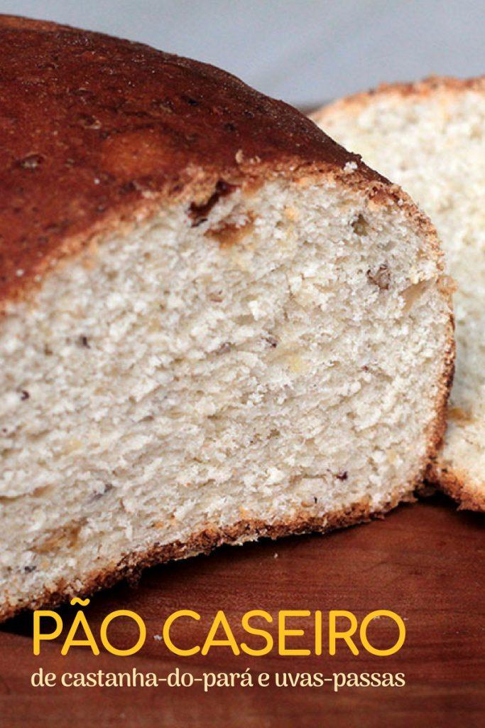 Pão caseiro de castanha do para e uvas passas, uma receita simplesmente maravilhosa. Confira a receita desse pão caseiro e prepare para aquele café da manhã em família, para um chá da tarde e muito mais. Ele é tão gostoso que combina muito com uma manteiga e um bom café.
