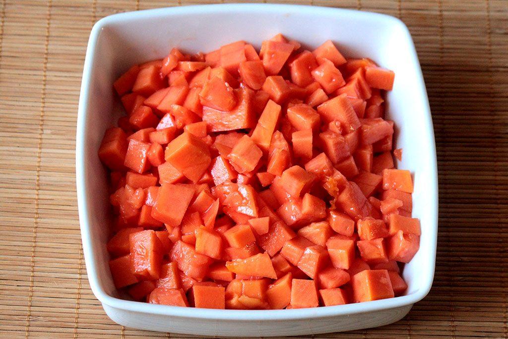 Geleia de mamão e laranja caseira