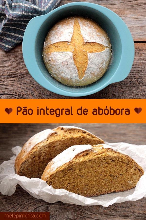 Pão integral de abóbora com sementes - Um delicioso e macio pão de abóbora ou moranga cabotia. Prepare essa receita gostosa e rica em fibras e nutrientes na sua casa.