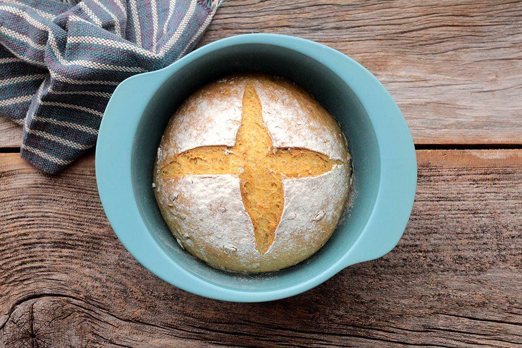 Pão integral de abóbora com sementes