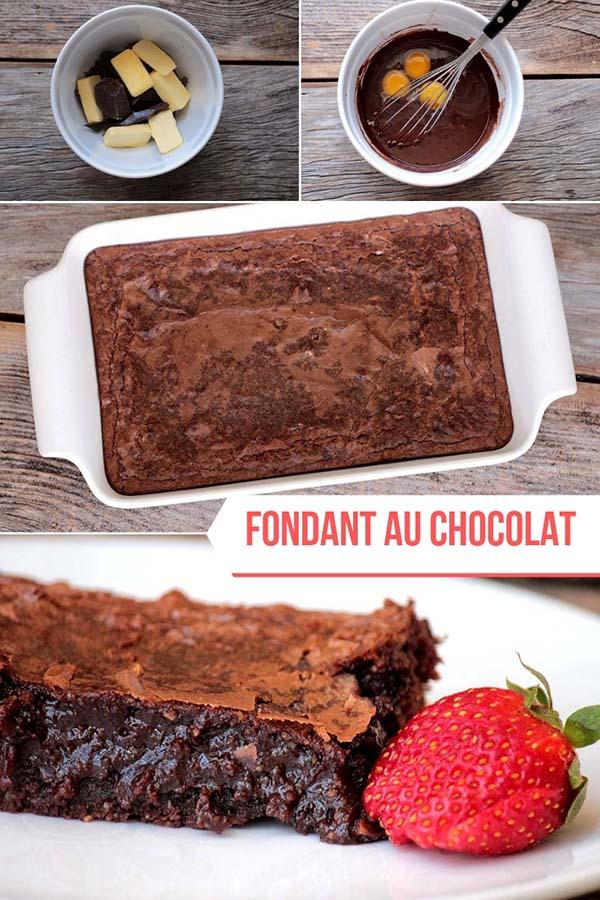 Fondant au chocolat Fondant au chocolat - Uma deliciosa sobremesa feita com chocolate, ela fica ainda mais úmida que brownie, é deliciosa e perfeita para ser servida com sorvete.