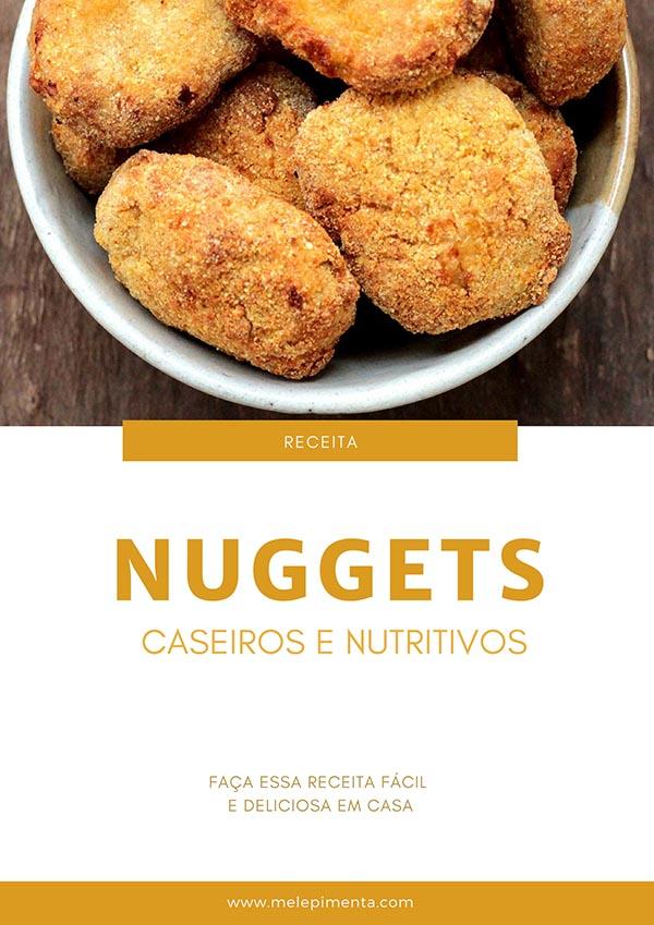 Nuggets de frango caseiros - Fácil e nutritivo – Esse nuggets é feito com frango, cenoura e você pode usar até talos de couve para enriquecer essa receita. Feita com poucos ingredientes, bem temperado, empanado e deliciosamente crocante. Faça essa receita deliciosa na sua casa