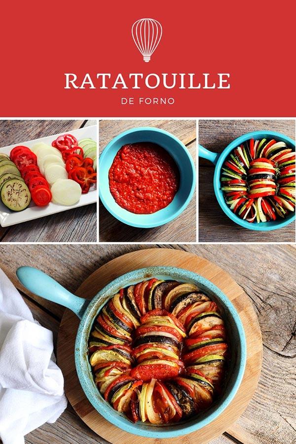 Receita do famoso Ratatouille feito no forno – Berinjela, cebola, pimentão, abobrinha, azeite de oliva e molho de tomate. Você só precisa disso para preparar um prato vegetariano, vegano, saudável, rico em nutrientes e simplesmente delicioso. Faça na sua casa o famoso Ratatouille e sirva como acompanhamento ou prato principal. Ele é prático, colorido e fácil de fazer.
