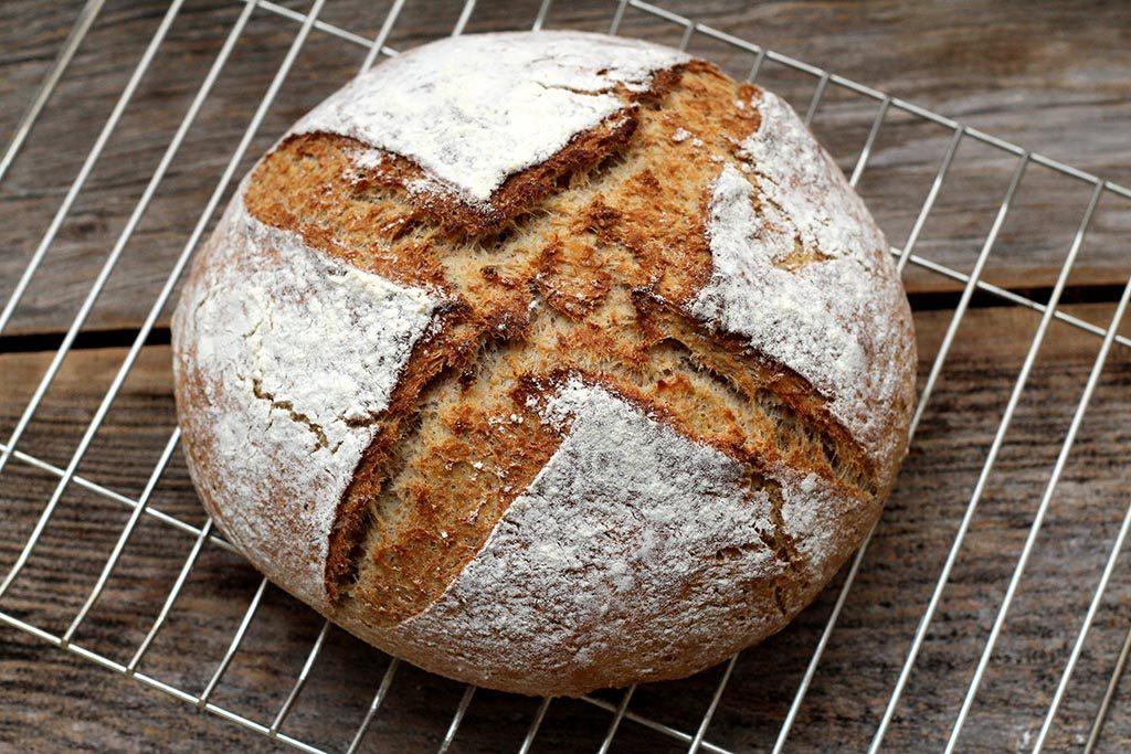 Receita de pão integral de cerveja e mel