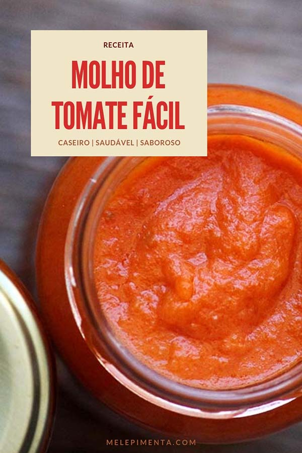 Molho de tomate caseiro, fácil e delicioso - Molho de tomate é o tipo de ingrediente que a maioria das pessoas costuma comprar pronto, mas o preparo de um bom molho é simples e ele pode ser congelado em pequenas porções e também pasteurizado para guardar fora da geladeira. Os molhos industrializados fazem parte da categoria de ultraprocessados, por isso, devemos evitar o consumo deles. Então confira a receita do nosso molho de tomate caseiro fácil que é feito com a pele e semente dos tomates e é delicioso. Prepare essa receita na sua casa.