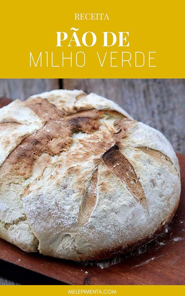 Receita de um delicioso pão feito com milho verde
