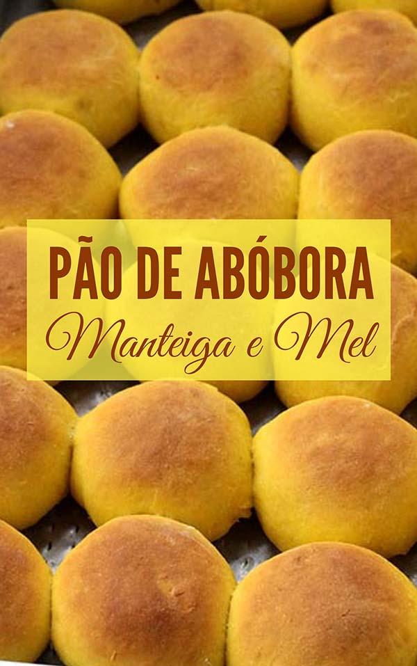 Pão de abóbora com manteiga e mel