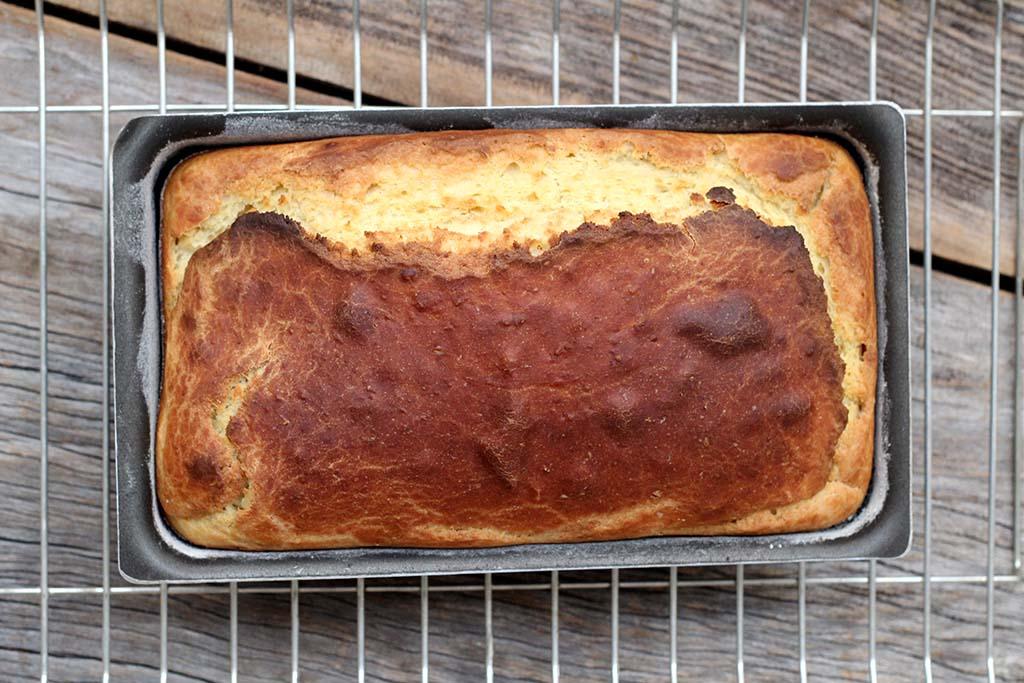 Pão rápido e sem sova, feito no liquidificador