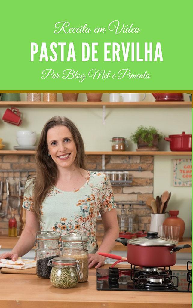 Vídeo de receita que ensina a fazer uma pasta deliciosa de ervilha