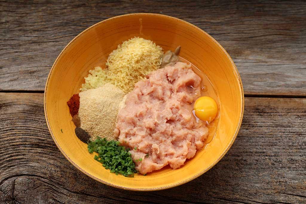 Ingredientes para as Bolinhas de frango