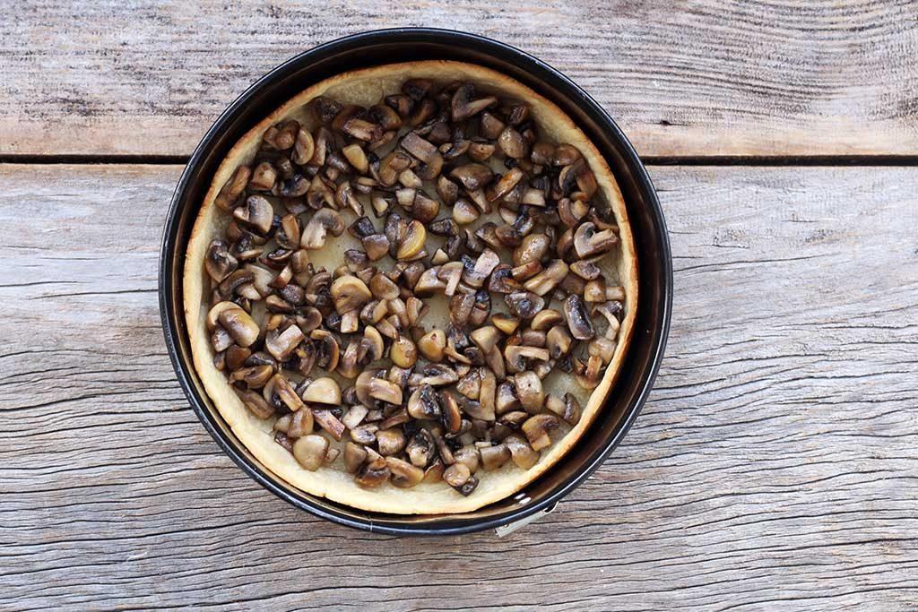 Base da quiche de cogumelos