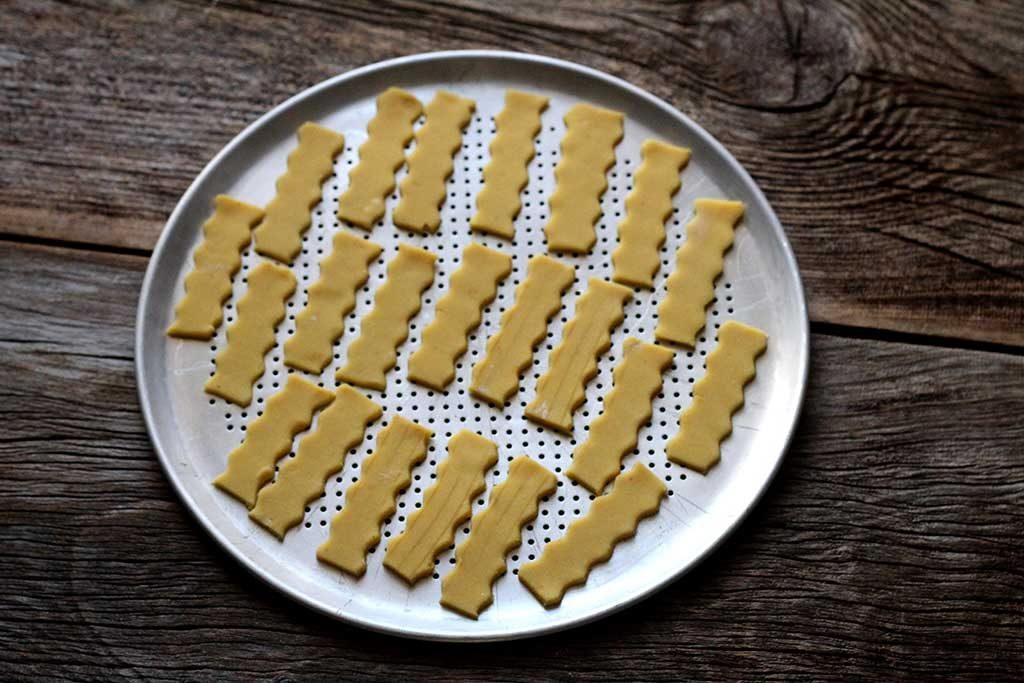 Biscoitos amanteigados de farinha de milho