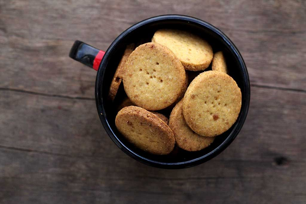 Biscoitos amanteigados de fubá